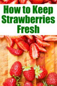 strawberries fresh chopped on cutting board