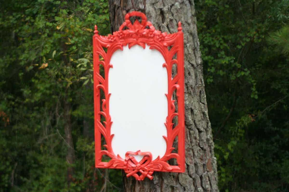Upcycled Vintage Mirror To White Board The Happier Homemaker