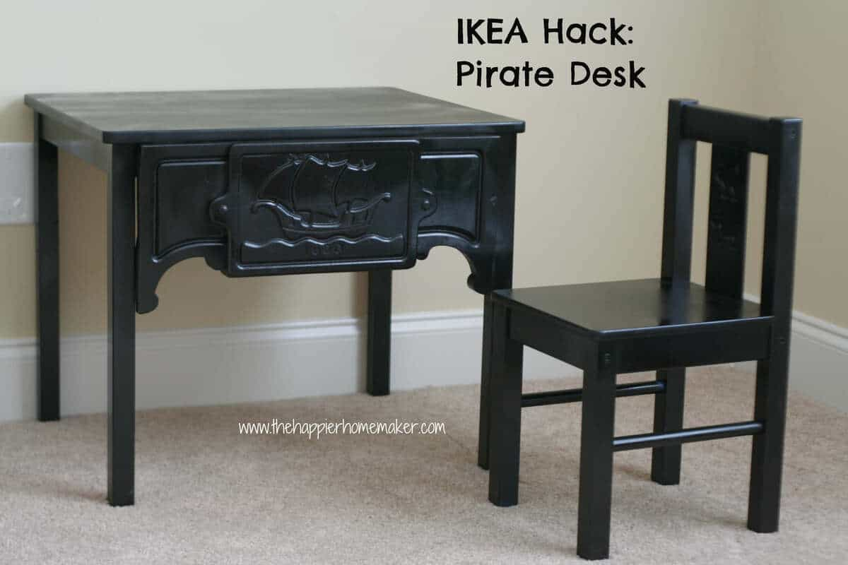 Ikea Table to Pirate Desk