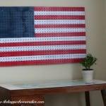 american flag pegboard