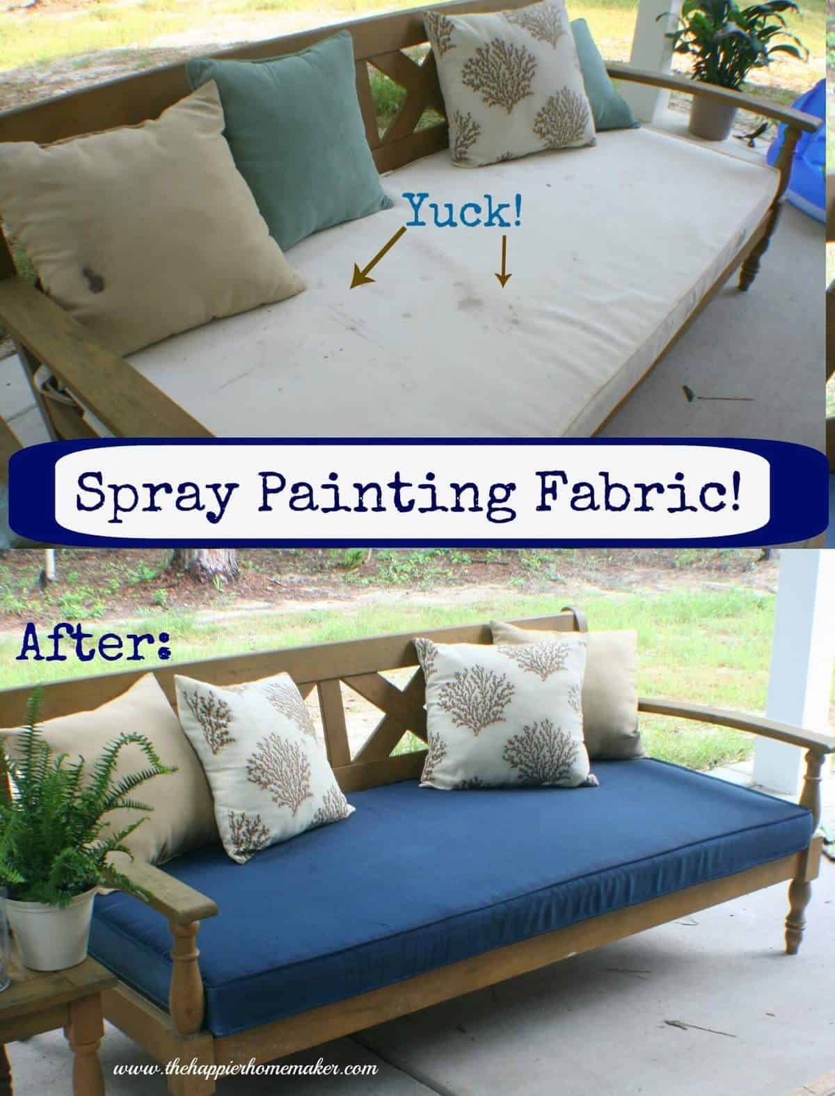 Spray Painting Fabric