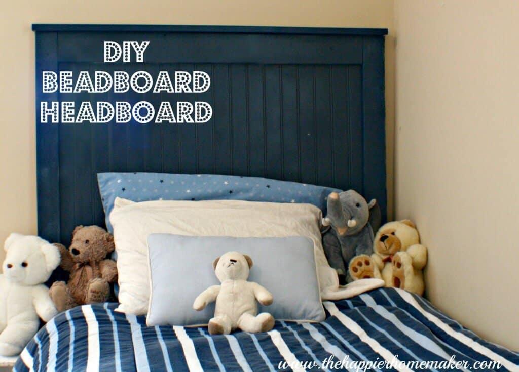 Diy beadboard headboard