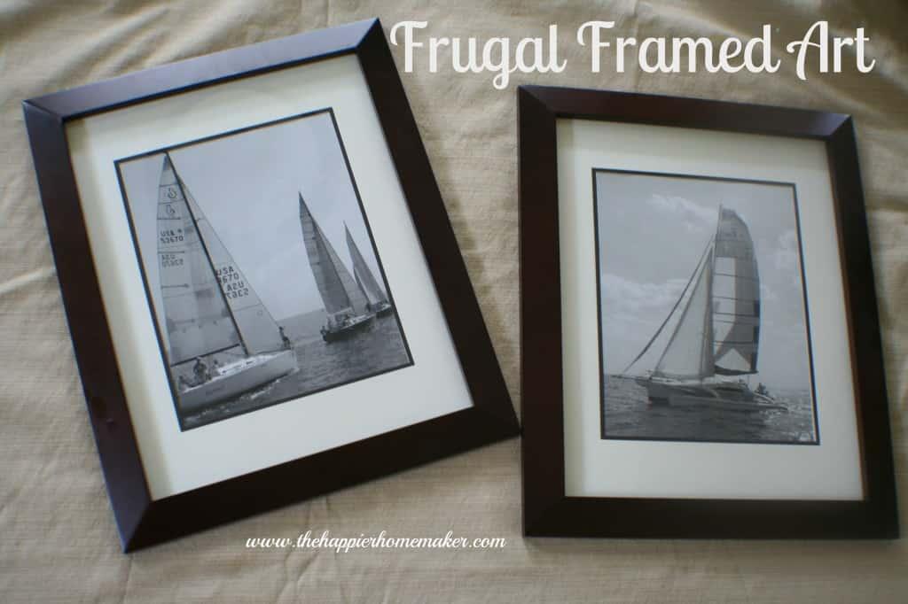 frugal framed art
