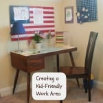 kid friendly work area