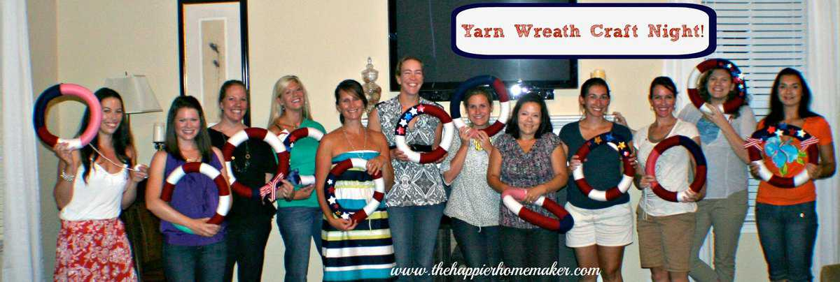 Yarn Wreath Craft Night