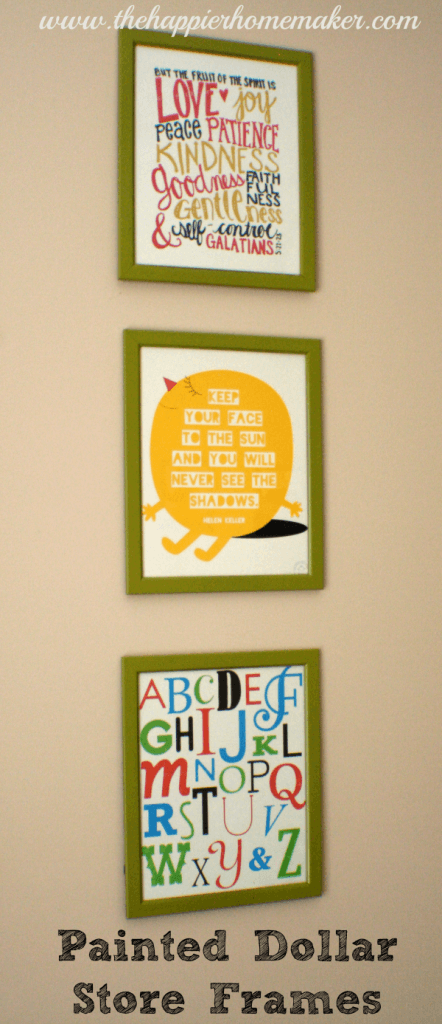dollar store frame spray paint krylon dual free printable nursery