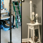 coat rack upcycle candleholder before after