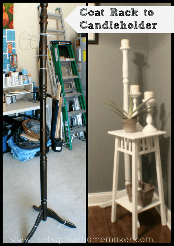 Coat Rack to Candleholder Upcycle