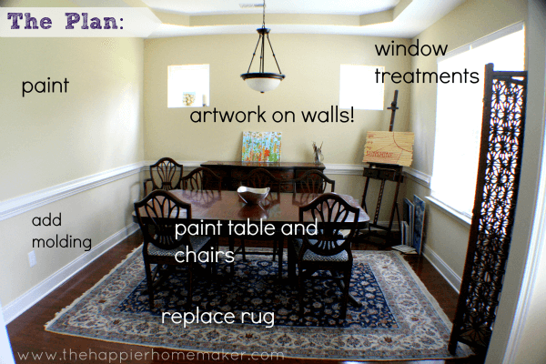 Dining Room Makeover Plan