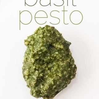 homemade basil pesto recipe with pine nuts and cheese
