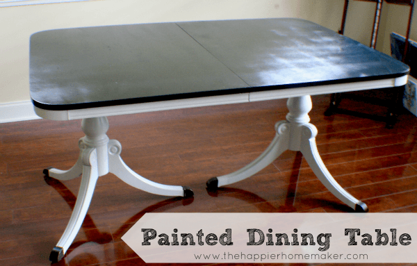 Painted Antique Table The Happier Homemaker : painted antique table from www.thehappierhomemaker.com size 600 x 383 png 94kB