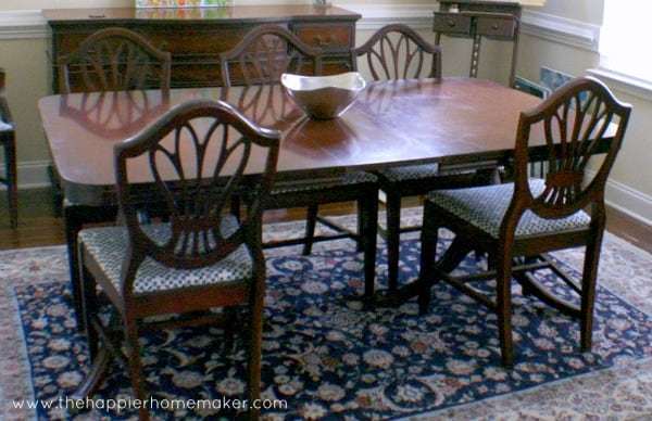 Save - Painted Antique Table The Happier Homemaker
