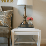 upcycled chair to side table