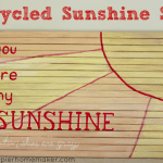 upcycled nursery sunshine sign wood
