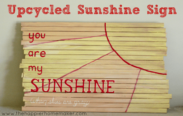 upcycled wood nursery art you are my sunshine yellow orange red white