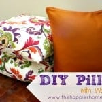 diy pillow curtain napkin