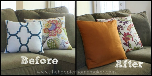 pillow cover from curtain napkin diy
