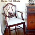 after drop cloth covered chair