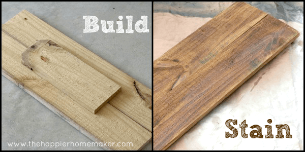 build oyur own diy mail sorting station fence post stain cut wood