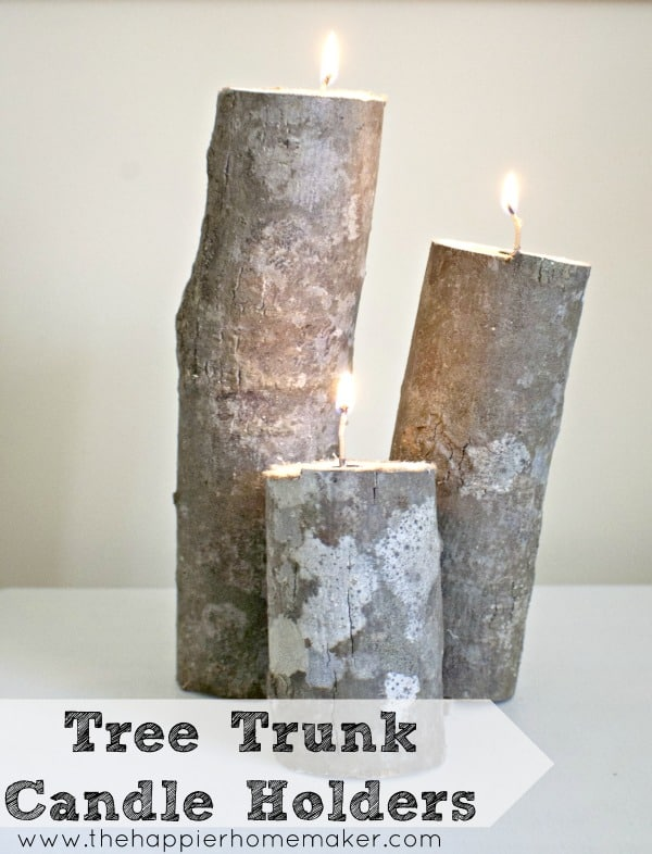 tree branch trunk candle votive holder  diy craft
