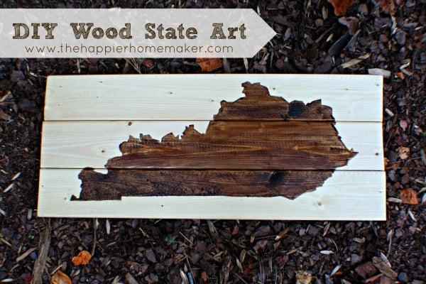 DIY Wooden State Art