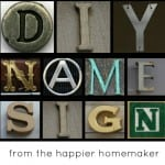 collage of photos of letters spelling DIY Name Sign