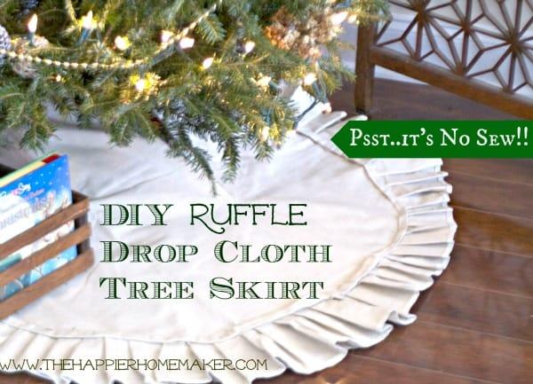 DIY Ruffle Dropcloth Tree Skirt