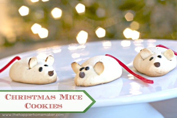 Christmas Mice Cookies The Happier Homemaker