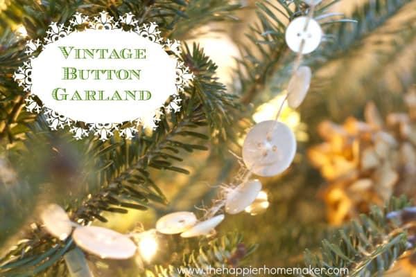 vintage buttonn garland