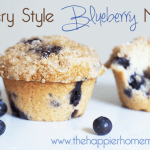 Bakery Style from scratch blueberry muffins with a delicious streusel topping!