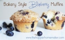 bakery style b lueberry muffins with an amazing streusel topping!