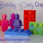 DIY dinosaur lego birthday cake favors