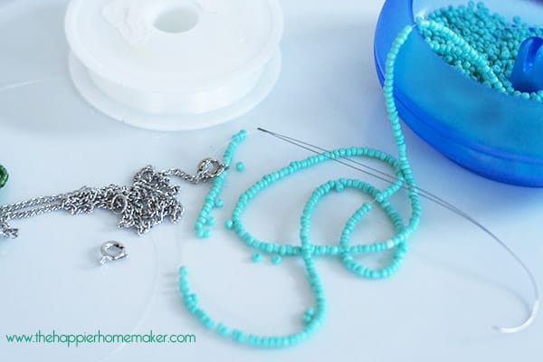 DIY Braided Bead Necklace The Happier Homemaker - Diy braided necklace