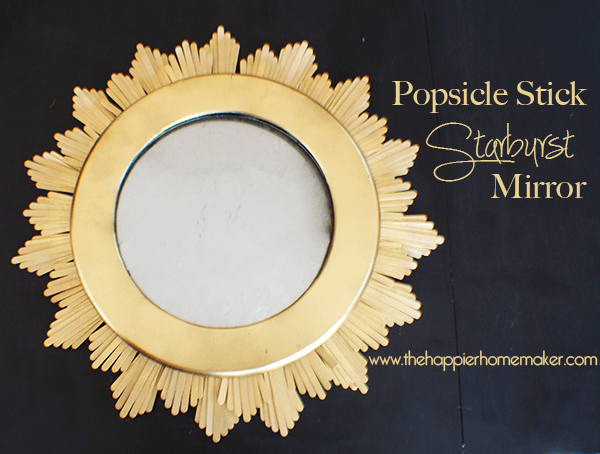 A DIY popsicle stick starburst mirror