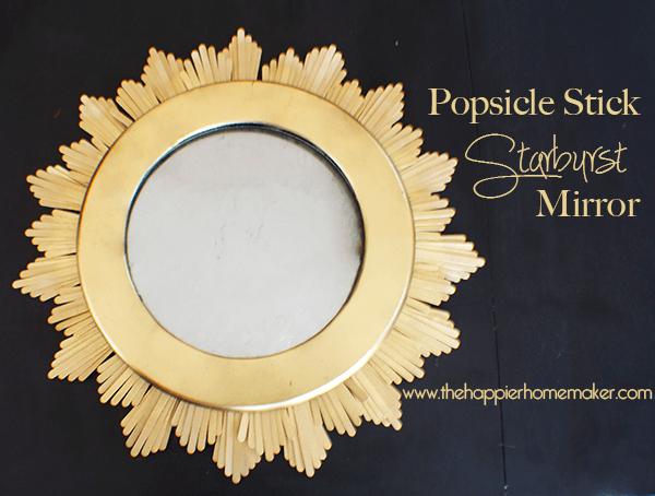 popsicle stick starburst mirror