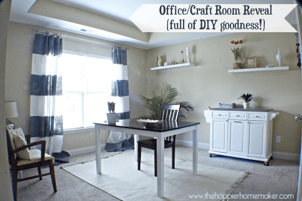 Office/Craft Room Reveal (Full of DIY Goodness!)