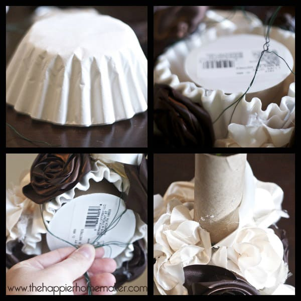 Bridal Bouquet Base : Vintage inspired ribbon flower wedding bouquet the
