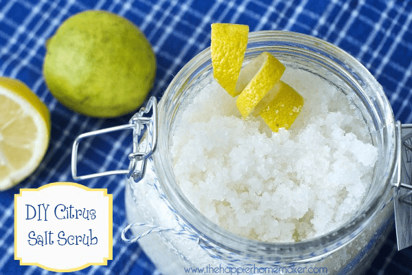 citrus salt scrub