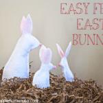 Three no sew felt Easter bunnies