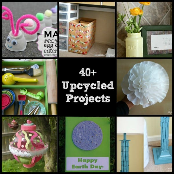 40 upcycled and recycled crafts and diy projects the