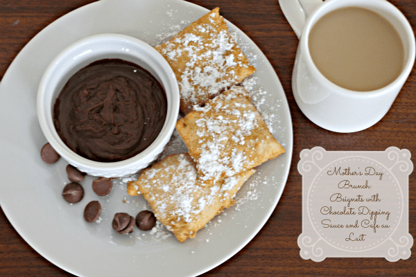 Mother's Day Brunch: Beignets with Chocolate Dipping Sauce and Cafe au ...