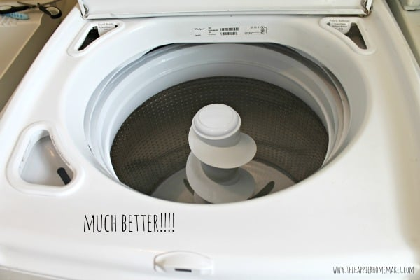 clean washing machine after