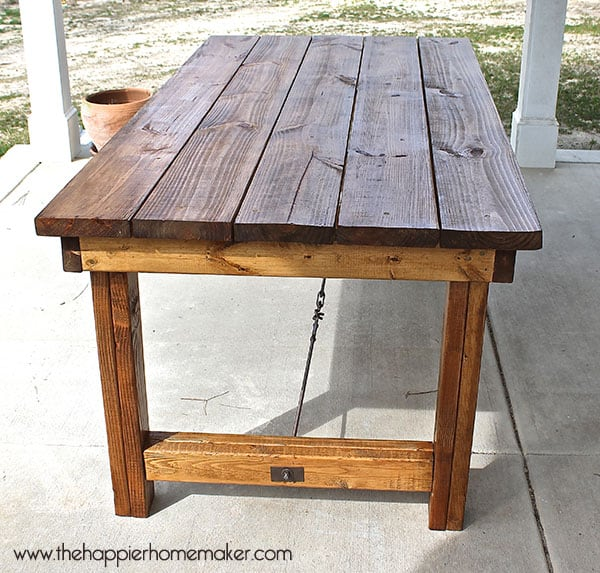 dining table diy pottery barn