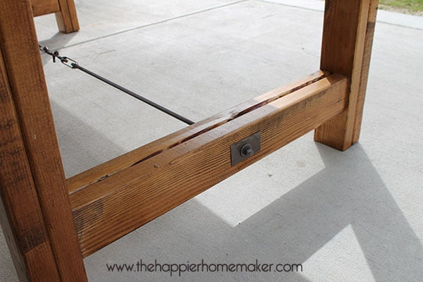 diy dining table bottom