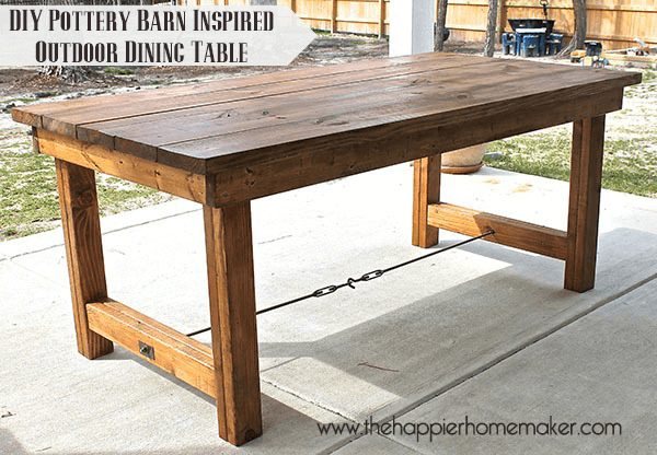 Diy pottery barn inspired dining table the happier homemaker - Building kitchen table ...