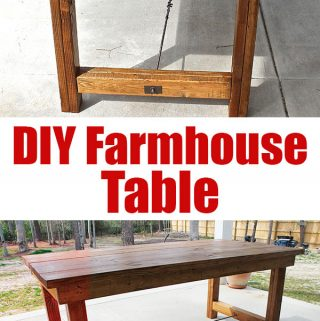 farmhouse table with turnbuckle