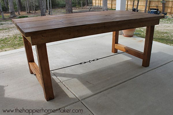 DIY Pottery Barn Inspired Dining Table The Happier Homemaker
