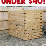 DIY wood screen to hide pool equipment in yard