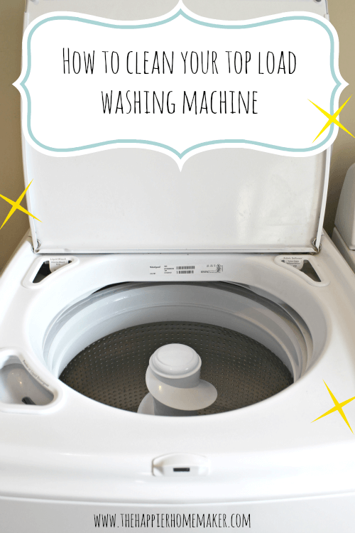 How to Clean a Washing Machine (Top Load)
