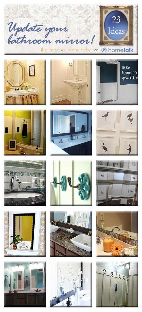 Nice Heated Tile Floor Bathroom Cost Small Shabby Chic Bath Shelves Round Bathtub Ceramic Paint Bathrooms And More Reviews Old Popular Color For Bathroom Walls BrightBest Hotel Room Bathrooms In Las Vegas 20  DIY Ways To Update Your Bathroom Mirror | The Happier Homemaker